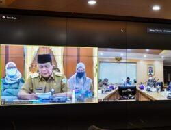 Wamen LHK Alue Dohong Pimpin Rakoor dengan Gubernur Untuk Pemulihan Lingkungan Pasca Banjir Kalsel Secara Daring
