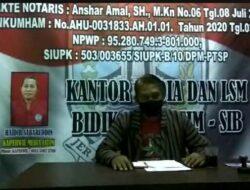 Ketua LSM BIDIK-SIB DPD Jatim Kecam Bom Bunuh Diri Di Gereja Katedral Makassar