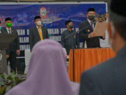Pimpinan DPRD Makassar Hadiri Pelantikan Pejabat Eselon III