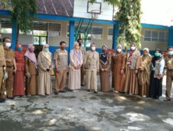 Wawali Fatma Tinjau Hari Pertama PTM, Pelajar UPT SPF SMPN 17 Makassar Swab Antigen Sebelum Masuk Kelas