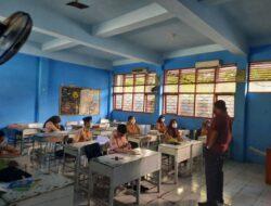 Simulasi PTM di UPT SPF SMPN 6 Makassar Berjalan Lancar